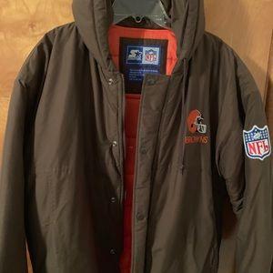 Vintage starter winter jacket Cleveland Browns